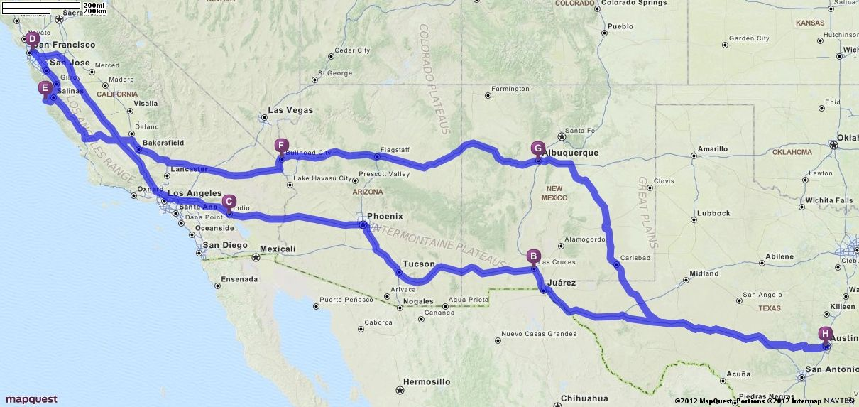 I Road Trips Approx 7 9 Hrs Of Driving Each Day Start Austin Tx Stop In Las Cruces Nm One Night Stop In Either Blythe Ca Or My Road Trip Road Trip Trip