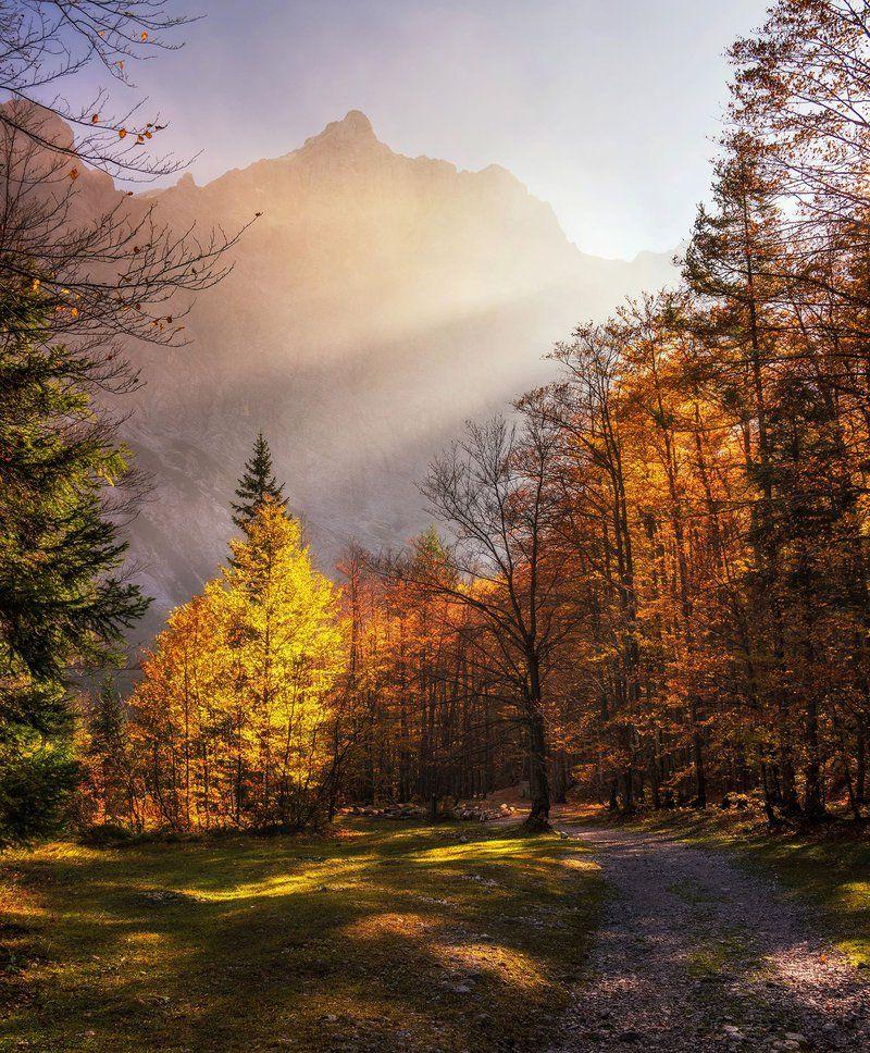 Dolina Vrata Le nekaj minut hoje od Aljaževega doma v Vratih se odpre lep pogled proti Triglavski severni steni  Več o ideji za izlet tuka is part of Fall colors -
