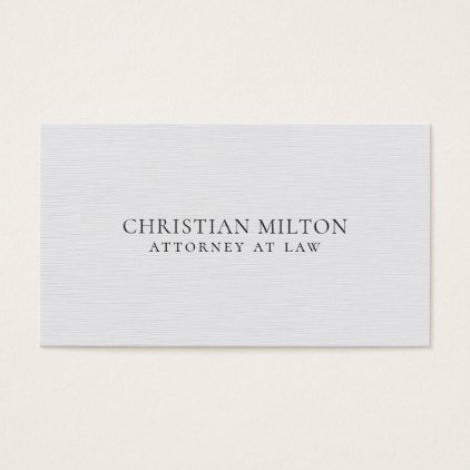 Minimalist elegant texture white attorney at law business card colourmoves