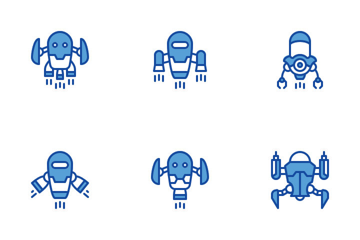 Robotics Icons 100 Free Svg And Png Iconscout Icon Robot Icon Design