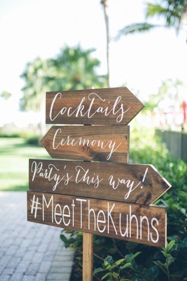 Show your guests the way with wooden arrow signs. | Wedding from ...