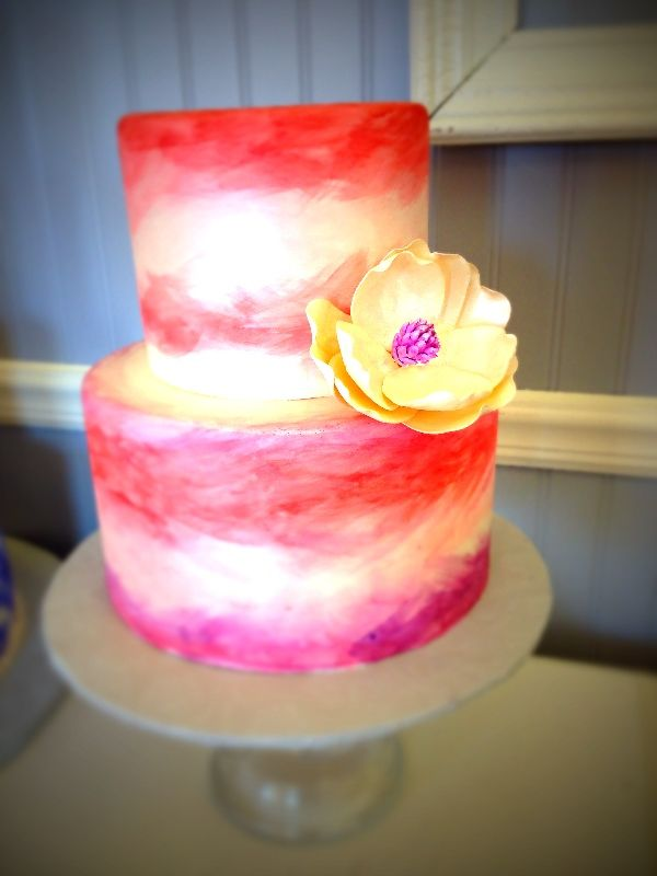 Wedding Cake By Sarah S Cake Shop Watercolor Weddingcake Cakes