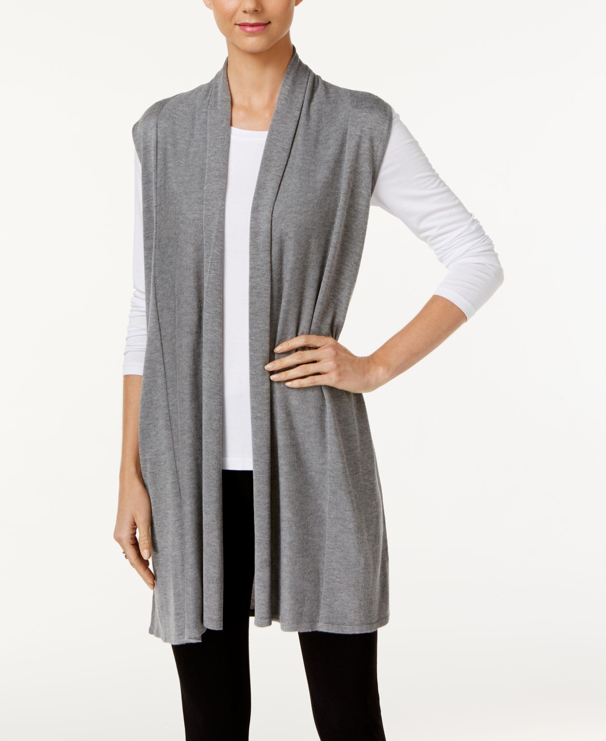 Joseph A Shawl-Collar Duster Sweater Vest | Cardigans For Men ...