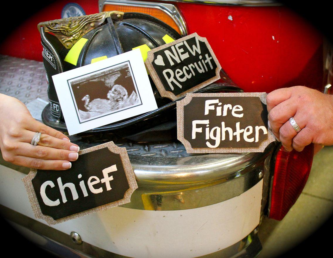 fireman pregnancy announcement  fireman pregnancy