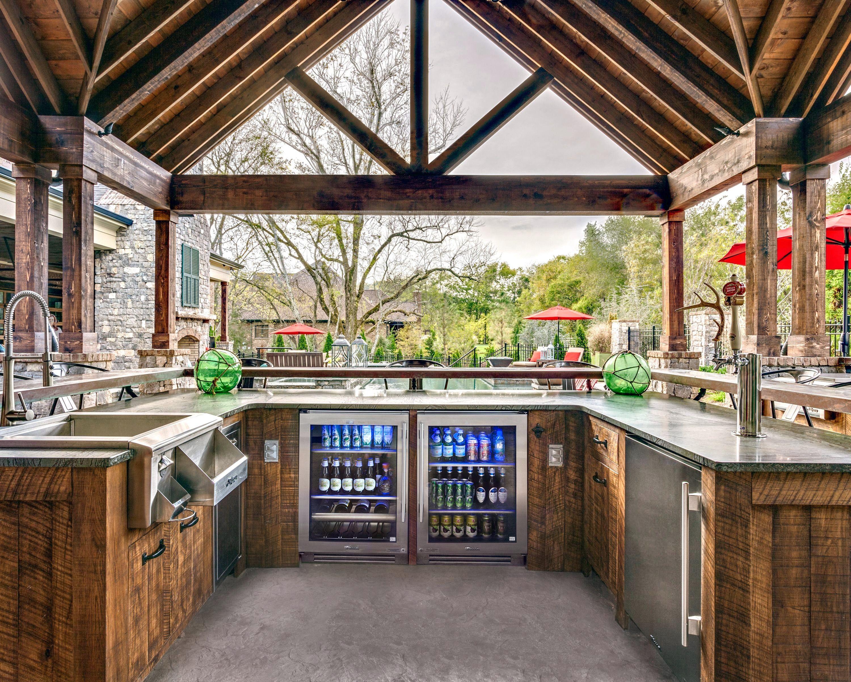 Enclosed Outdoor Kitchen Ideas #kitchenideas ...