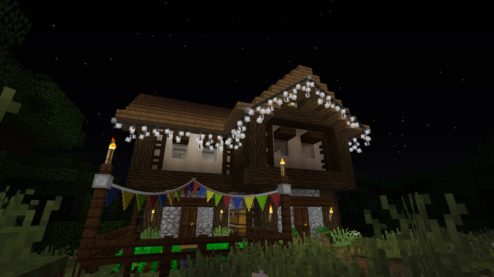 Fairy Lights Decorate Your World With Hanging Lights And Bunting Minecraft Mods Mapping And Modding Java Ed Fairy Lights Minecraft Light Hanging Lights