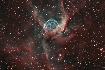Bill Snyder captured this spectacular view of a massive cosmic cloud commonly known as Thor's Helmet.