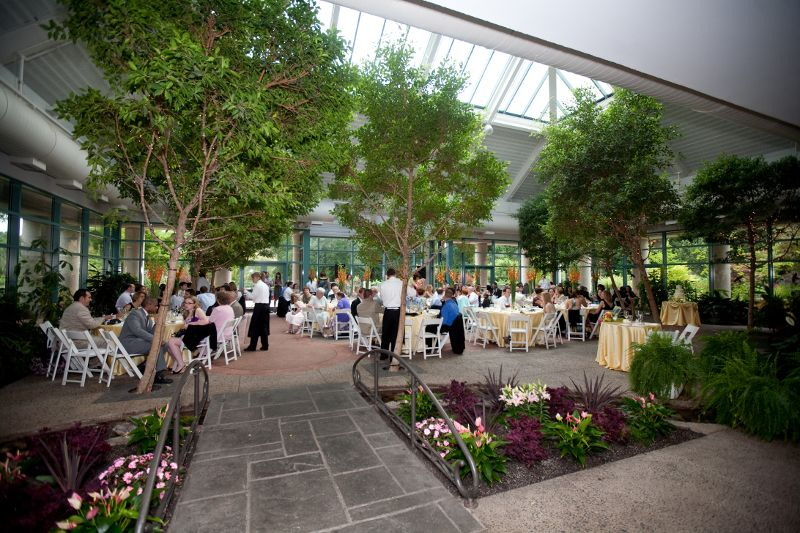 Atrium At Meadowlark Vienna Botanical Gardens Wedding Garden