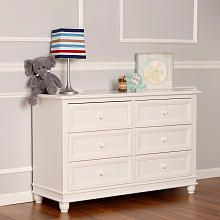 Dream On Me Mia Moda Brooklyn Double Dresser White Furniture
