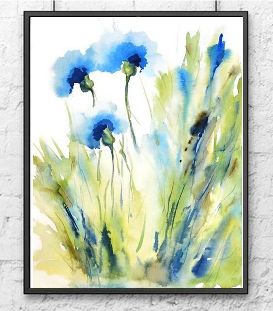 Nancyknightart Etsy Com Flower Watercolor Painting Giclee Print
