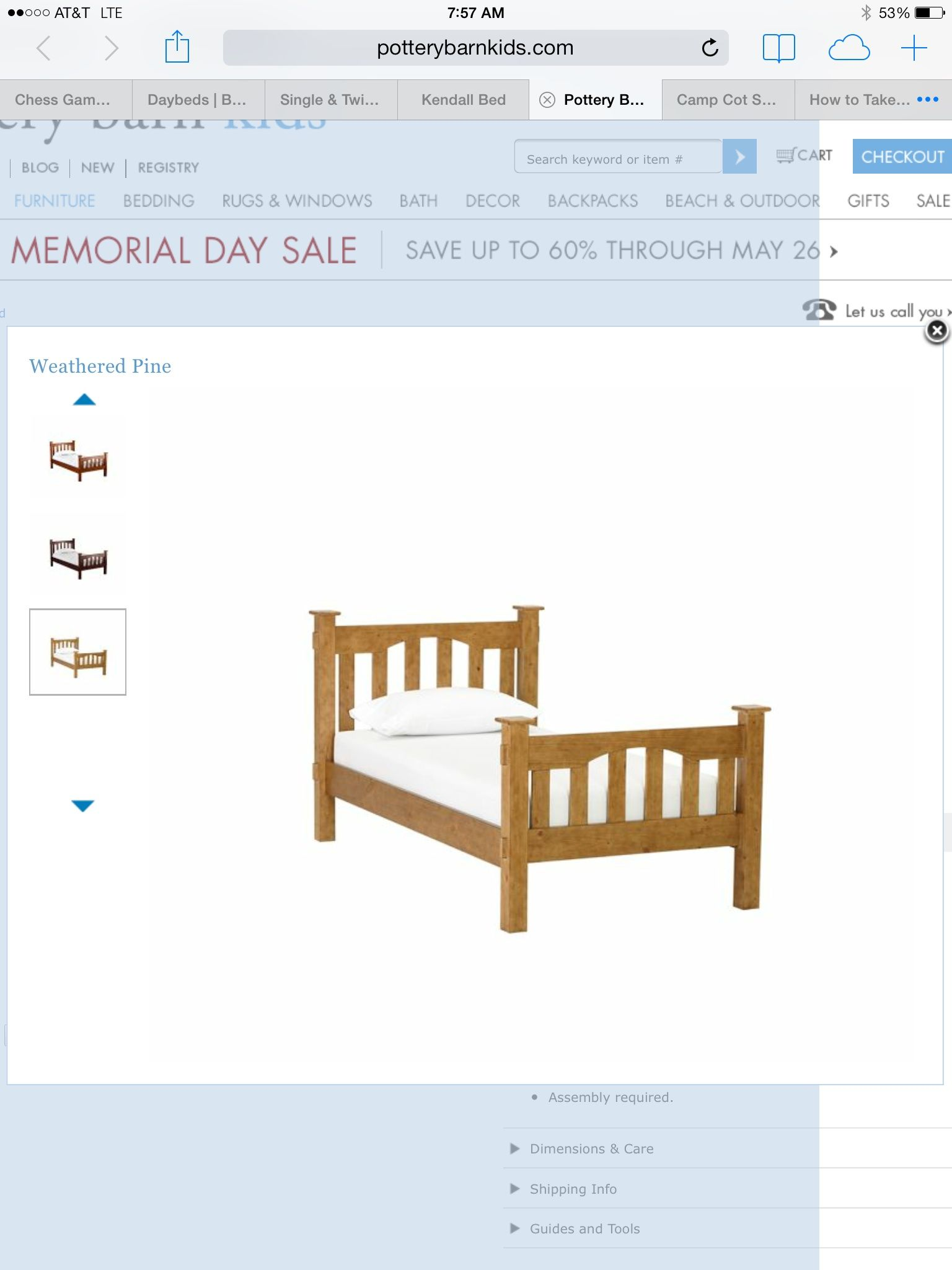 Best Pottery Barn Kendall Bed Pottery Barn Kids Outdoor 640 x 480