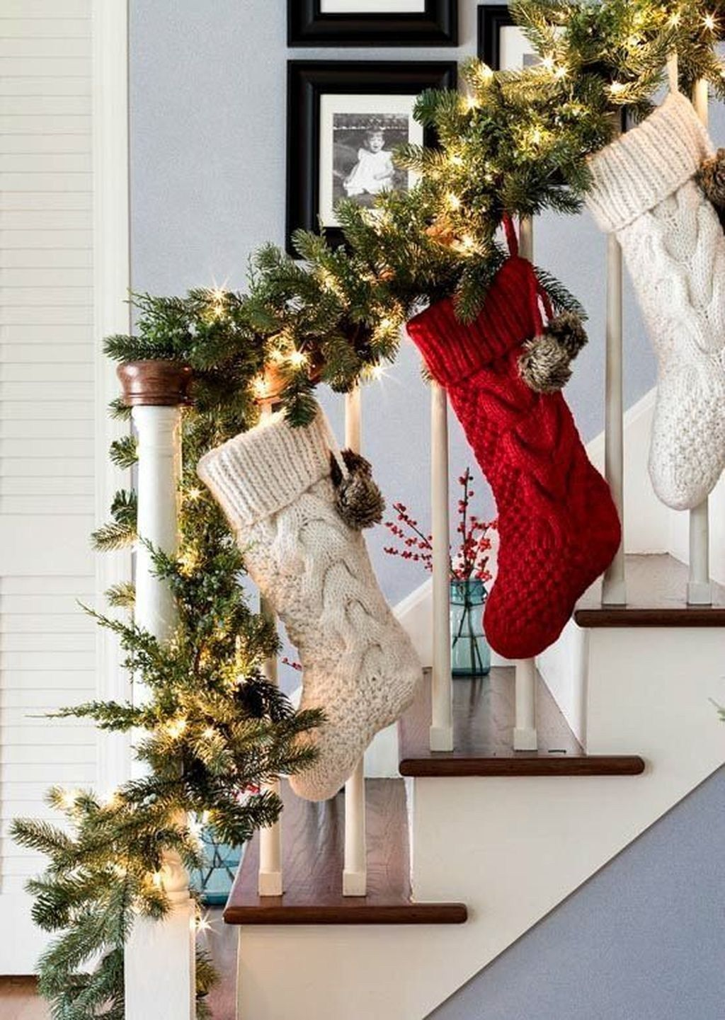 Photo of 48 beautiful winter stairs decoration ideas – DIY and decoration