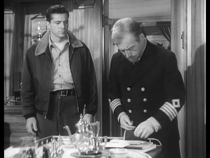 Dana Andrews And Claude Rains In Sealed Cargo 1951 Directed By
