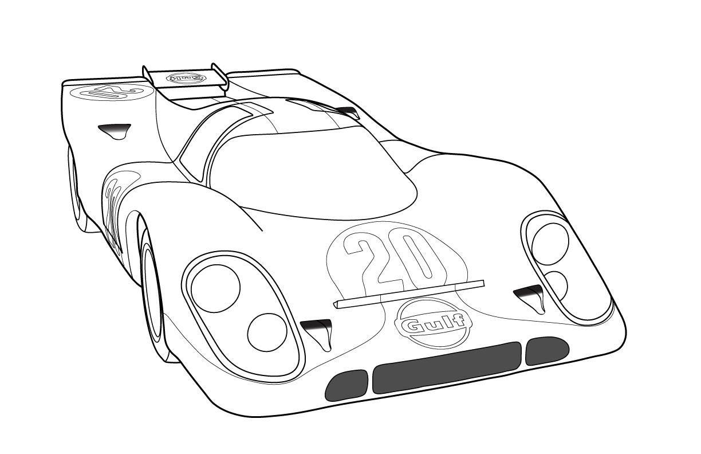 19++ Race car coloring pages preschool info