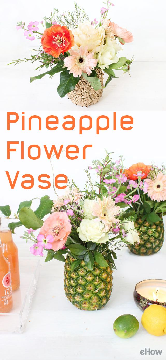 How Beautiful Is This Pineapple Flower Vase! DIY: Http://www.