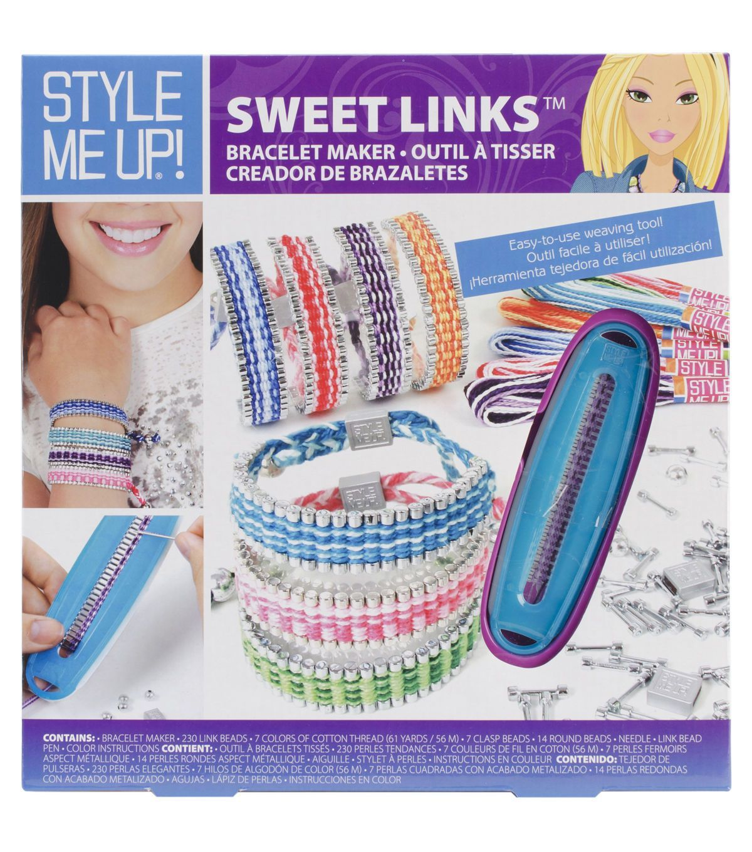 Style Me Up Sweet Links Kit Childrens Jewelry Link Bracelets Bracelet Kits