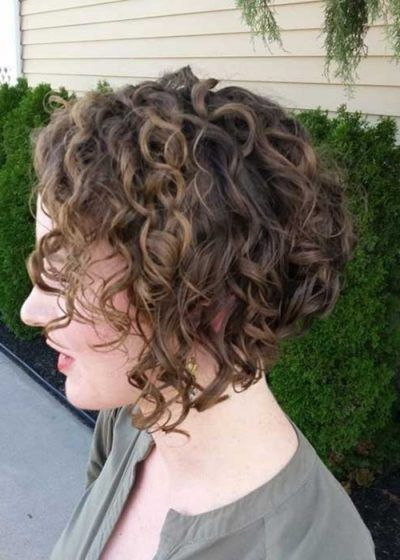 inverted bob hairstyles curly