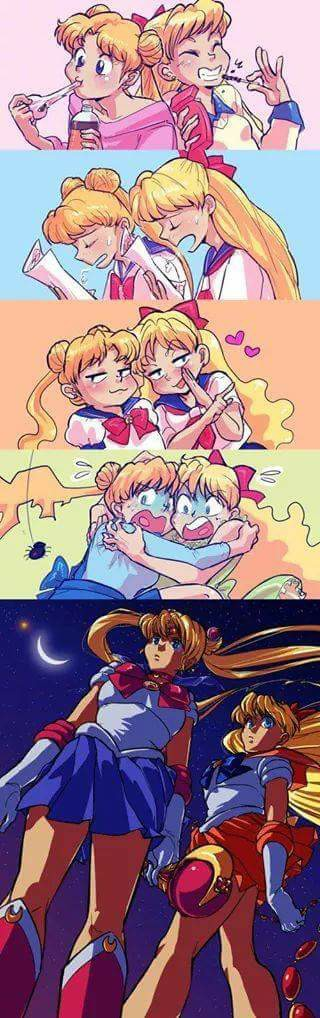 me and my cousin always do this!!! I'm sailor moon and she's sailor moon.