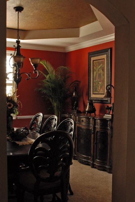 West Indies Tropical Decorating Red Hot Tropical Dining Room Desig
