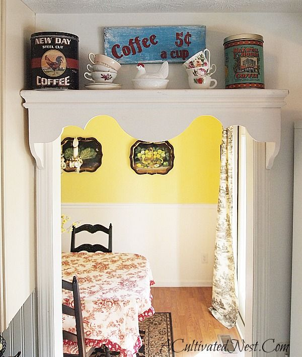 Decorating With Coffee Tins In My Kitchen - New & Vintage | Kitchen ...