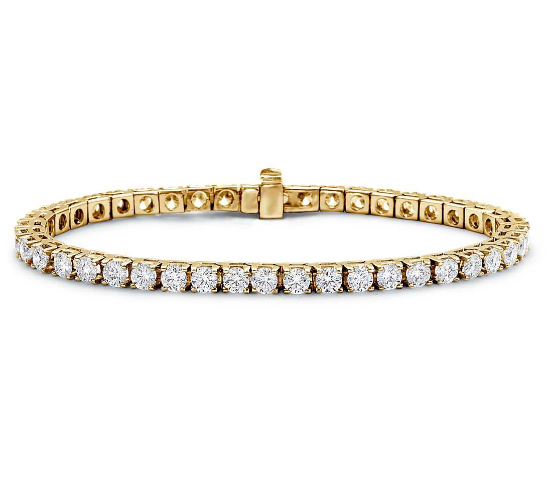 Diamond Tennis Bracelet in 18k Yellow Gold | Your chance to win a $1000 gift card from #BlueNile!