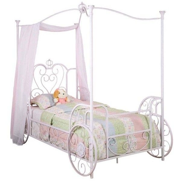 Princess Emily Carriage Canopy Bed w/ Bed Frame—Buy Now! ($86 ...