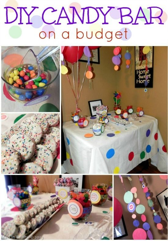 Diy Party Candy Bar On A Budget Candy Bar Party Candy Party