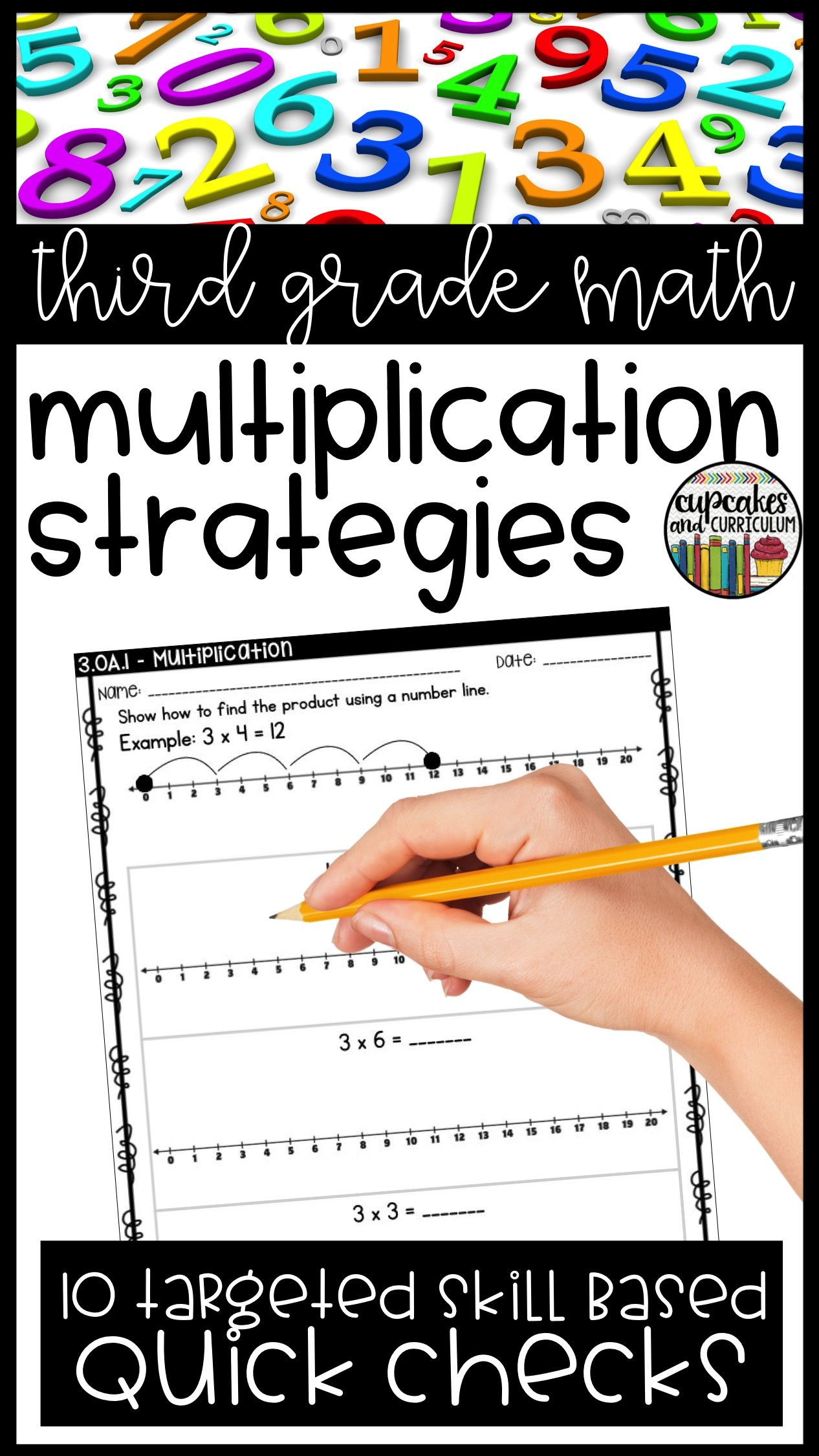 Third Grade Math Skill Checks: Full Year | Math skills ...