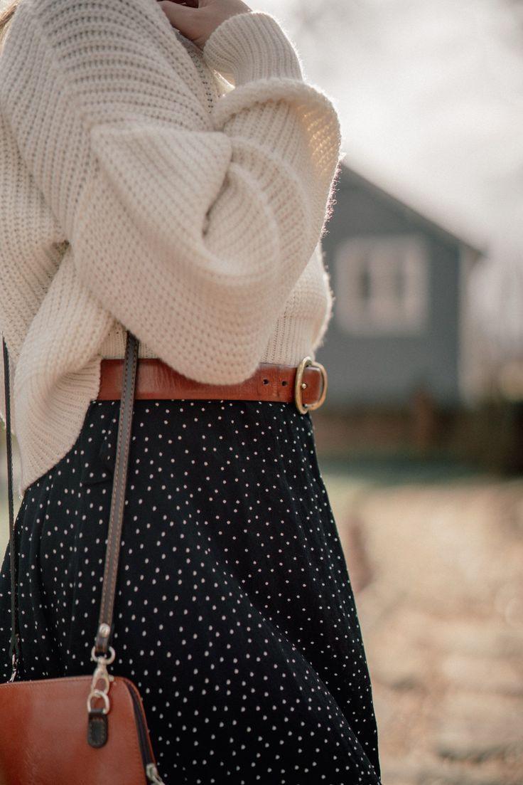 Winter in Polka Dots - Some Pretty Thing #womenswinterfashion