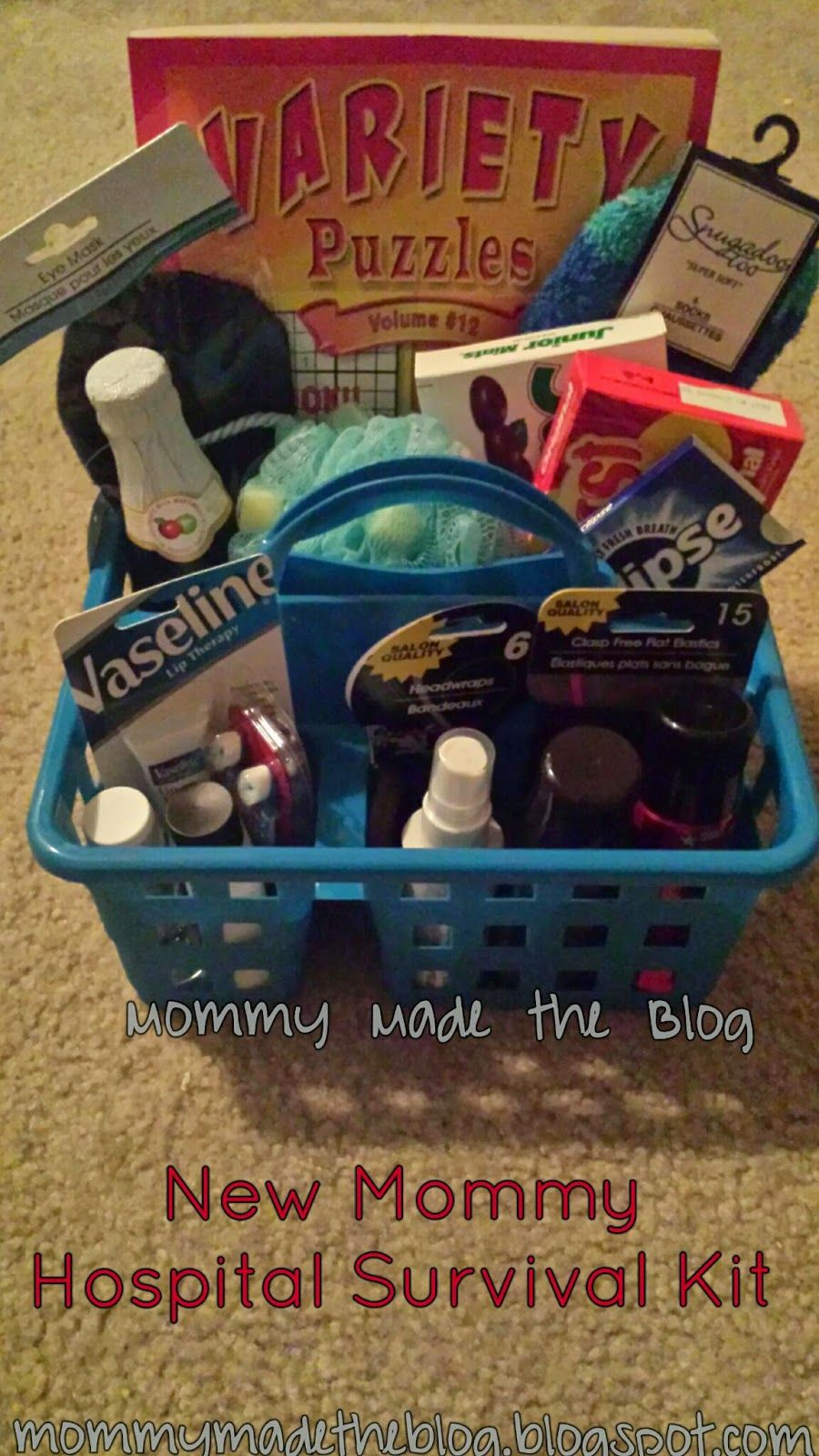 DIY New Mommy Hospital Survival Kit Hospital survival