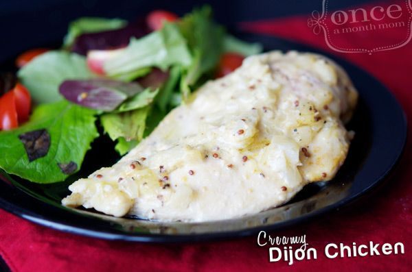Creamy Dijon Chicken | OAMC from Once A Month Mom