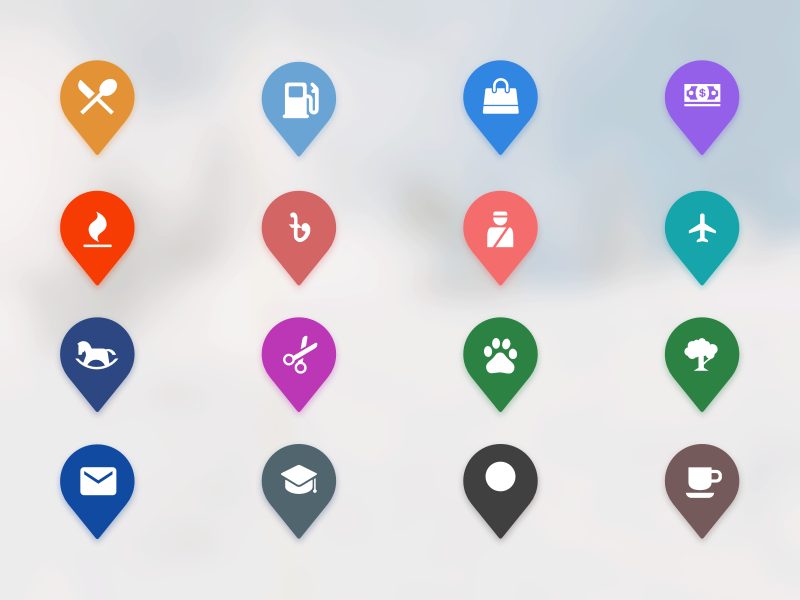 Map Icons Map icons, Google maps icon, Map