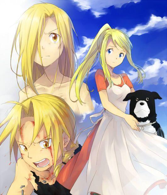 Winry Rockbell,Alphonse Elric,Edward Elric - Fullmetal Alchemist,Anime