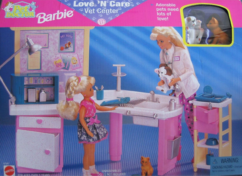 Pet Doctor Barbie Love N Care Vet Center Childhood