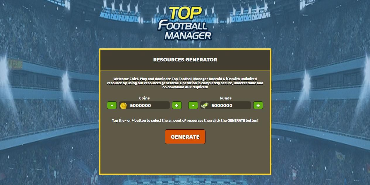 Unlimited Coins - Unlimited Funds Top Football Manager Hack Online ...