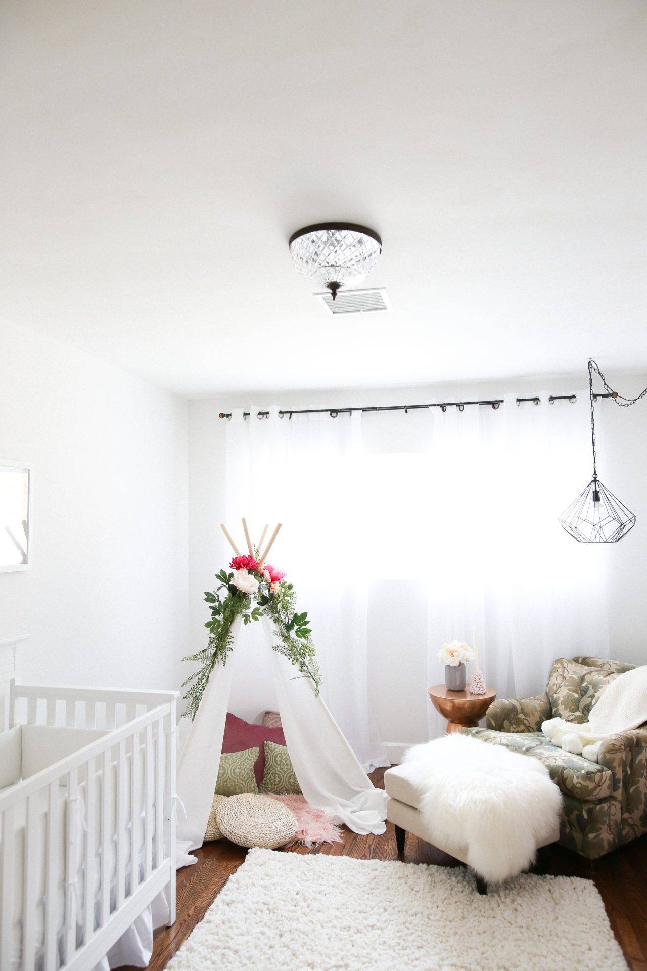 A Bohemian Nursery Makeover Creates The Perfect Comforting Cute E For Mama And Baby Find This Pin More On Mr Kate Interior Design