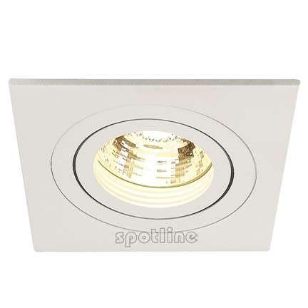 Podtynkowa LAMPA sufitowa NEW TRIA GU10 1 SQUARE 111721 Spotline biały
