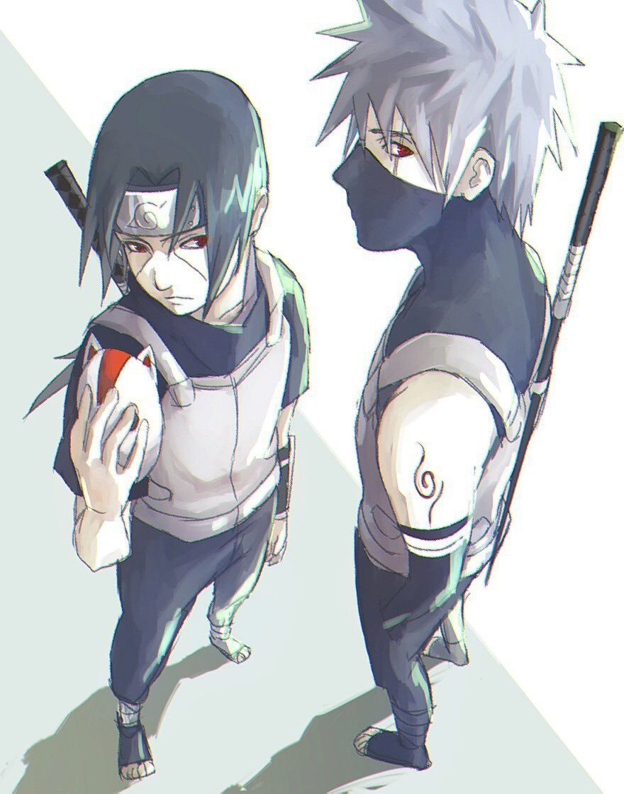 Anbu Leaf Ninjas Itachi Uchiha Kakashi Hatake Naruto Shippuden Anime