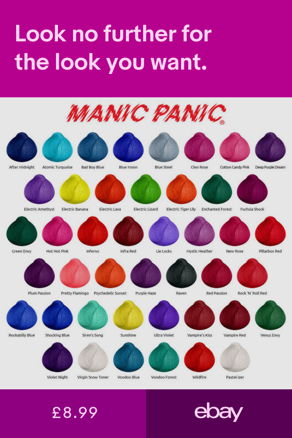 Manic Panic Hair Dye Vegan Cream Formula Semi Permanent 118ml 4 Oz Manic Panic Hair Manic Panic Hair Color Manic Panic Hair Dye
