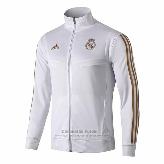 Comprar Chaqueta Del Real Madrid 2019 2020 Blanco Y Oro Cuello Alto Chaquetas Ropa