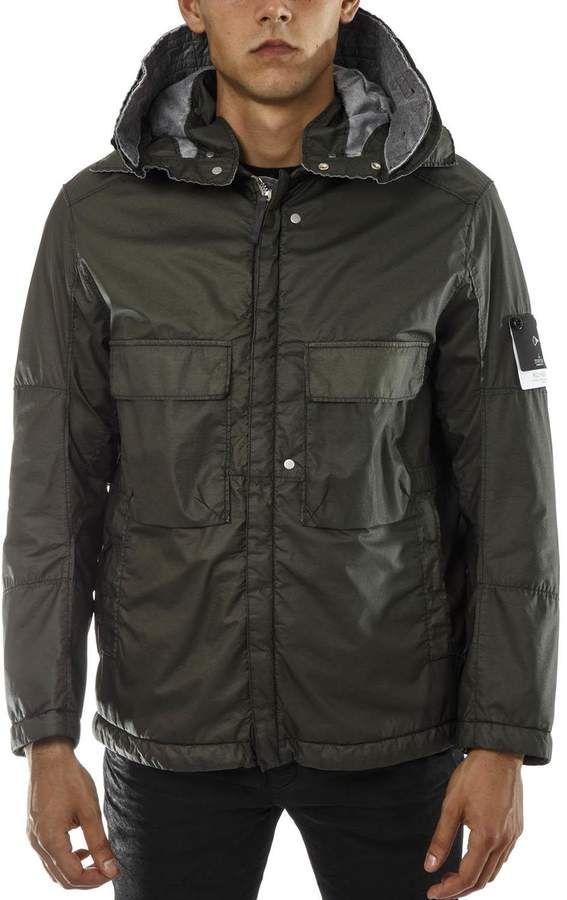 33818faaf7e Stone Island Shadow Project Green Nylon Parka Jacket | Products ...