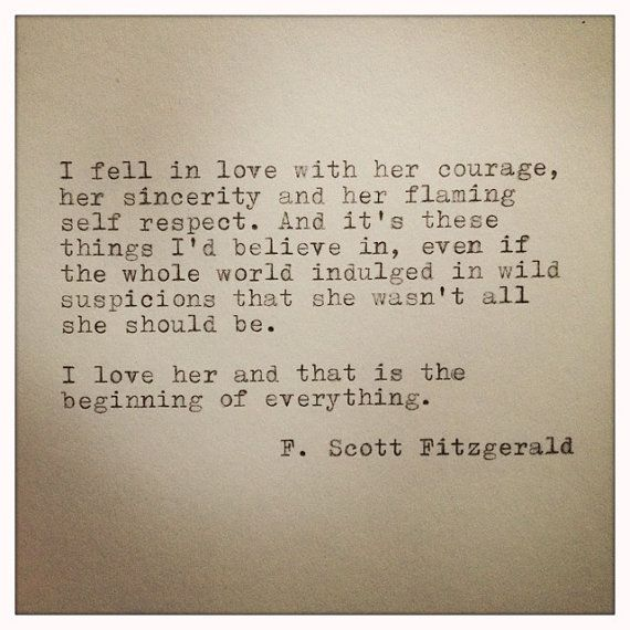 Beautiful F Scott Fitzgerald Framed Love Quote Made On By Farmnflea On Etsy, $15.00