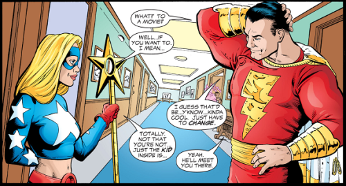 Shazam/Billy asking Stargirl out for a date. | Dc superhero characters, Captain marvel shazam, Comics