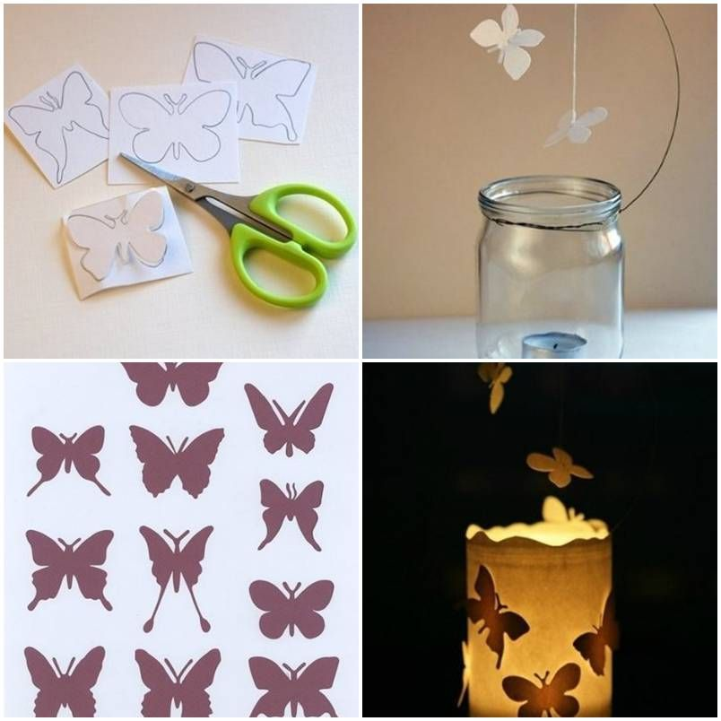How to make Butterfly Candle Decor Ideas step by step DIY tutorial