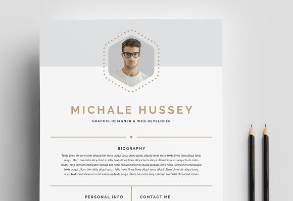Clean Resume Booklet 8 Pages | Template, Resume cv and Business cards