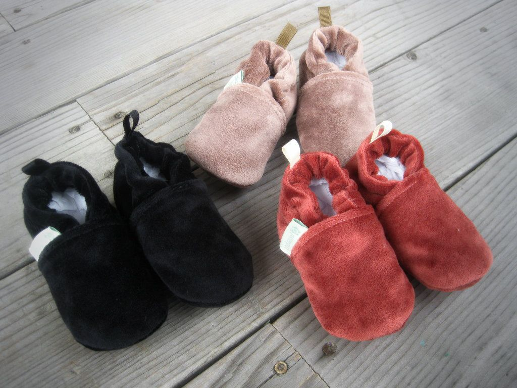 Organic cotton bamboo velour baby shoes all things baby