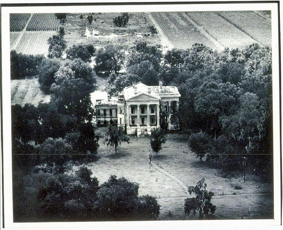 Aerial View Of Belle Grove Plantation Home White Castle