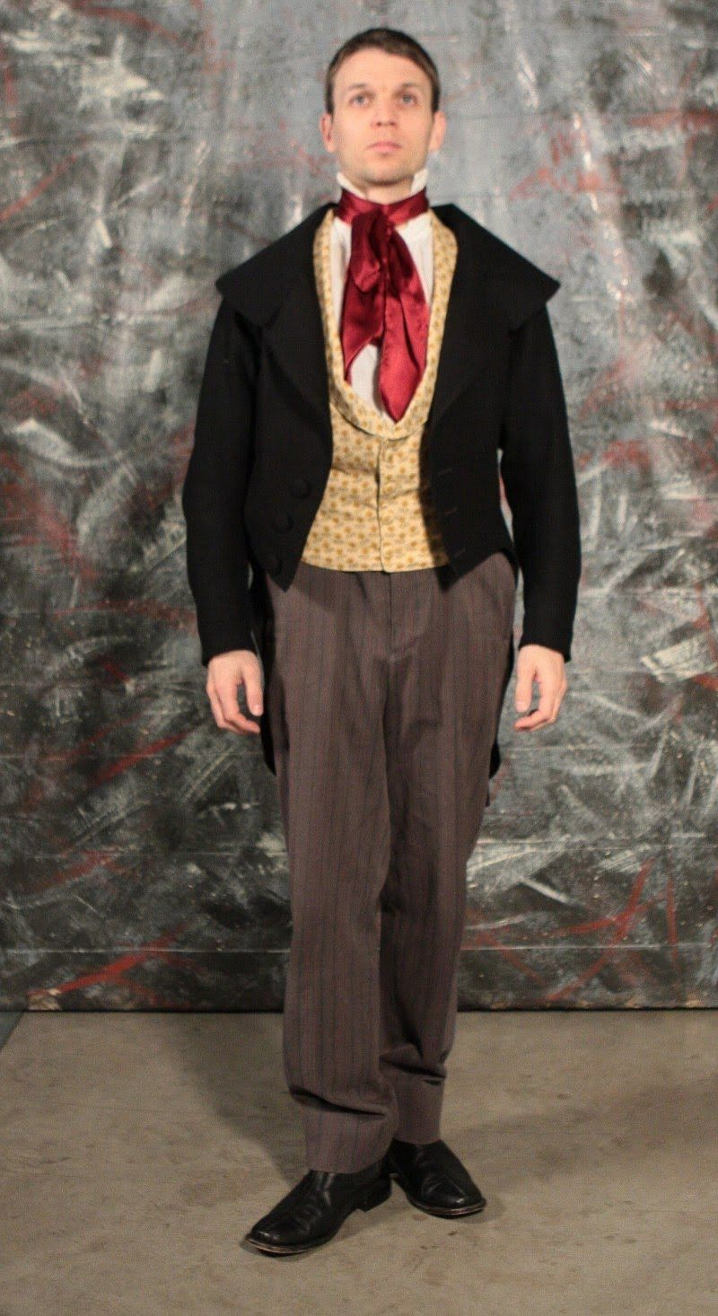 1840s mens clothing these are both 1840s outfits we