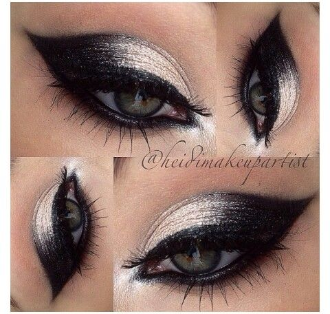 Perfect Silver Black Eyeshadow Idea Eye Makeup Makeup