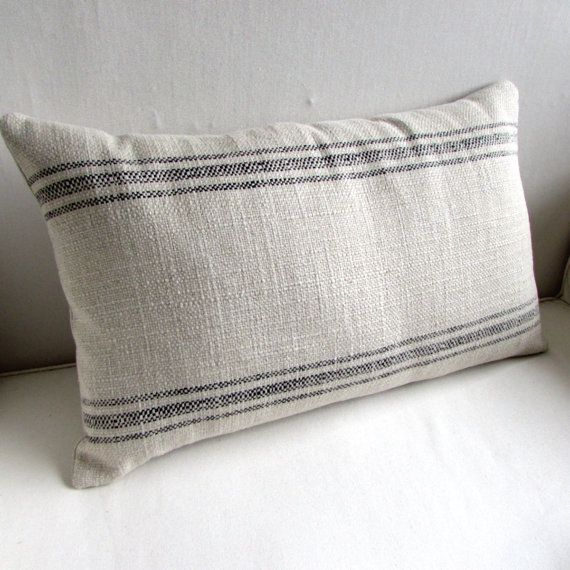 16X26 Pillow Insert French Laundry 16X26 Pillow Cover Black Stripes  Laundry Pillows